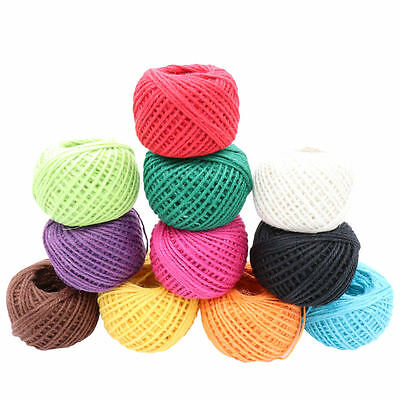 10/50M Jute Burlap Ribbon Wrap Gift Link Paper Tag Twine Rope Cord String 2mm