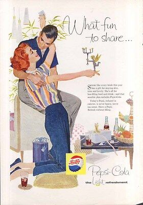 Pepsi What fun to share… wedding presents ad 1958