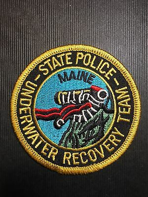 Maine State Police Underwater Recovery Team  Shoulder Patch