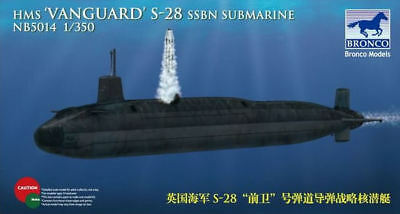 Bronco Nb5014 - 1/350 Hms S-28 Vanguard Ssbn Submarine - Neu