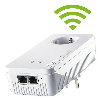 Devolo DLAN 1200+ WiFi AC Powerlan Adapter 1200 Mbit/s WLAN LAN Steckdose