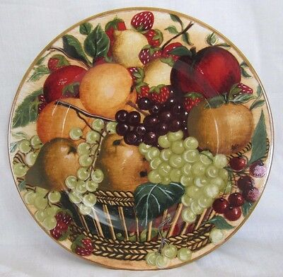 """BLOCK Country Orchard 12 1/4"""" Round Platter, Fruit Basket, Decorative Plate"""
