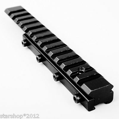 155mm Extend 11mm to 20mm Converter Rail Base Adapter for Rifle Scope Hunting