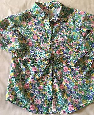 Carter's Girl's Long Sleeve Floral Dress Shirt 8 Pre-owned