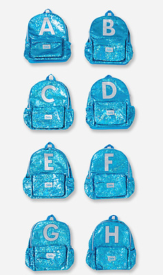 Justice Girls' Sequin Sparkle Initial 'C' Backpack Book Bag NWT