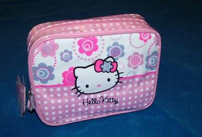 Hello Kitty Kosmetiktasche 16x20 cm Flower  NEU