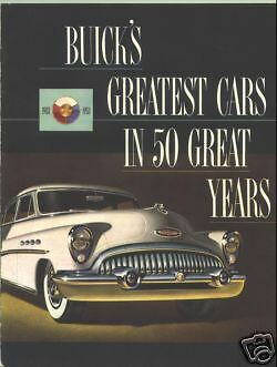 1953 Buick Sales Catalog with ALL Models including Skylark Convertible!