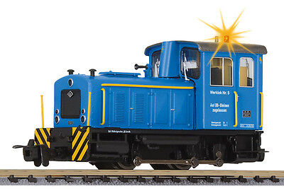 Liliput L 142128 H0e Industry Locomotive O&K, blue, m. warning light, Ep.IV