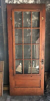 Antique Victorian Exterior Entry French Screen Door Hart Pine Removable Panel