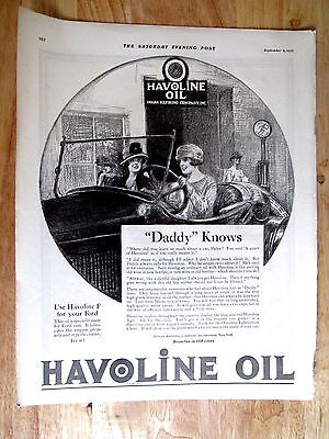 1922 HAVOLINE Motor Oil  Print Ad  10 x 13 in