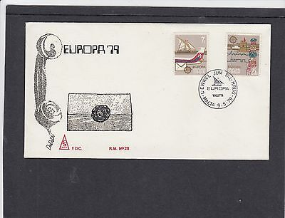 Malta 1979 Europa Communications First Day Cover FDC Valetta special h/s