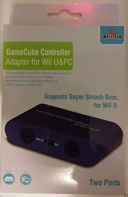 Mayflash Gamecube Controller Adapter for PC USB Wii U New Smash Bros two ports