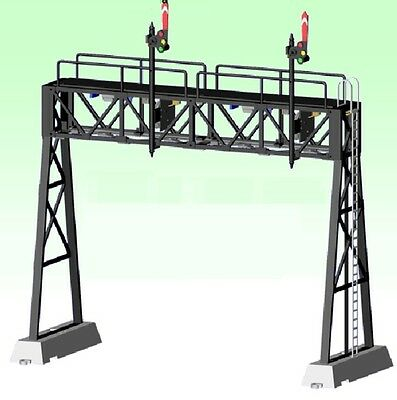 Z-Stuff DZ-1090-40U2 O Scale Signal Bridge w/Upper Quadrent Semaphores
