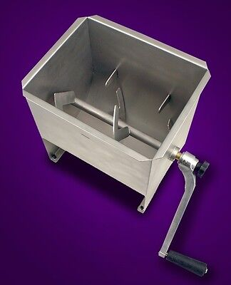 New MTN 32LBS Commercial Manual Stainless Steel Hand Meat Sausage Mixer Tank