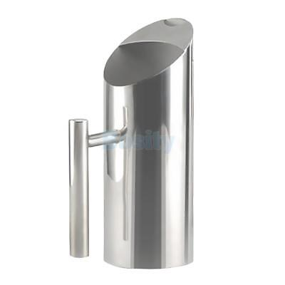Water Pitcher Stainless Steel Ice Guard Jar Container Drink Pot Party 1-2L