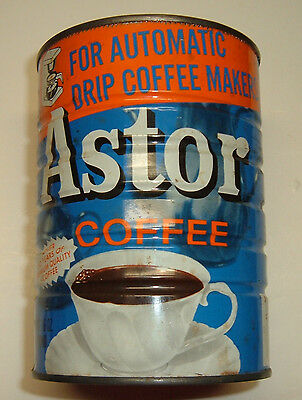 Vintage 16 oz.  Astor Coffee Can for Automatic Drip coffeemakers