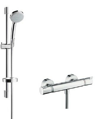 Hansgrohe Croma Ecostat Comfort Exposed Shower Bar Thermostatic Mixer Valve Kit
