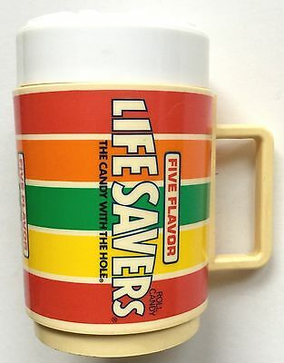 Vintage Life Savers Sippy Cup ~ Plastic Promotional Advertising Mug