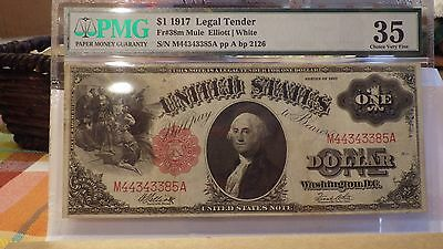 $1 - 1917  Us  Legal Tender Currency   Pmg  35