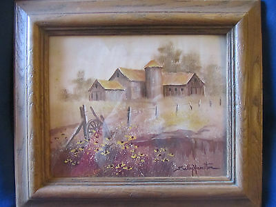 Framed Picture/pastel...old Weathered Barn...sally Hamilton...ex Cond!!