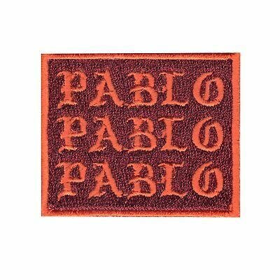Pablo Emoji Motif Iron On Embroidered Applique Patch