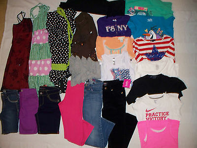 Huge Lot Of Girls Clothes  - Size 10/12 Justice Gap Nike Psny