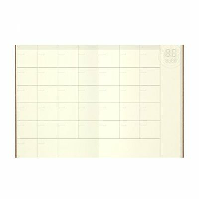 Midori Traveler's Notebook (Refill 006) Passport Size Monthly Diary