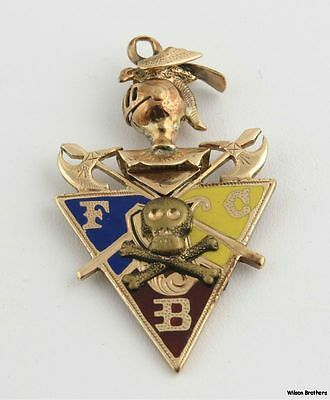 Knights of Pythias Fob Pendant - 10k Yellow Gold Vintage Fraternal FCB
