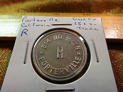 514 No. Main Token - Porterville, CA. - Good For 25 Cents In Trade *Free S&H USA