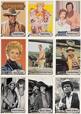 Gunsmoke Television Show 1993  Pacific Complete Base Card Set Of 110 Tv