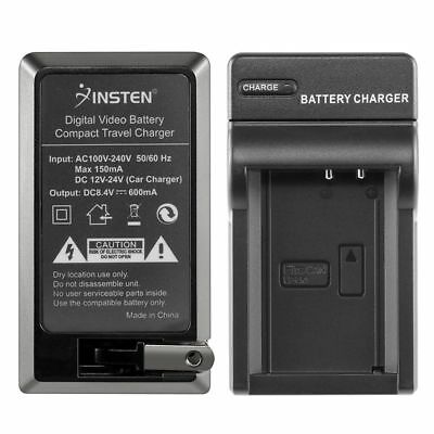 LP-E10 Battery Charger Mains+Car w/US Plug For Canon EOS 1100D Kiss X50 Rebel T3