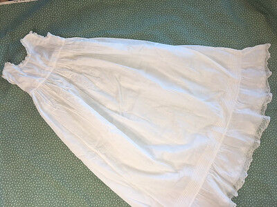 Antique 1900s~Infant Dress~Petticoat~Baptismal Christening -Embroidery Lace