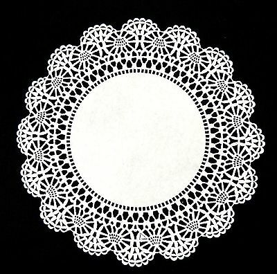 """4"""" 6"""" 8"""" 10"""" WHITE Cambridge Lace PAPER DOILIES for Parties Weddings Invitations"""