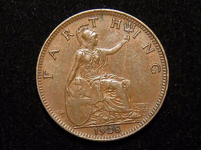 Nice 1928 Great Britain Farthing Coin Lot 241
