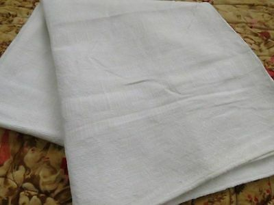 Antique GERMAN Woven CENTER SEAM LINEN Sheet blanket coverlet 54x59