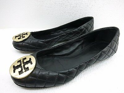 Tory Burch Diamond Stitched Leather Moccasin Slippers Flats Women's Shoes 8 M