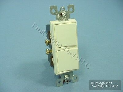 Leviton Almond COMMERCIAL Decora Double Rocker Light Switch Duplex 15A 5634-A