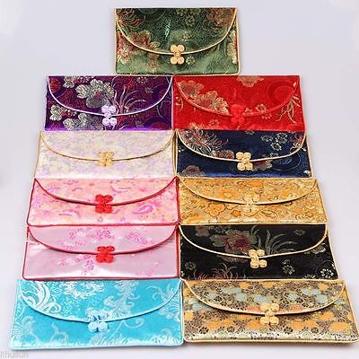 Lots3sets/9pcs Chinese Handmade Vintage Silk Purse/Wallet/Pouch Card bag