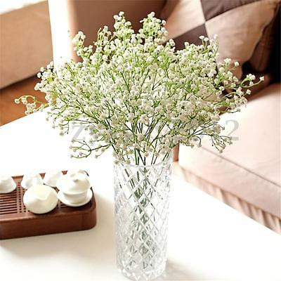 White Gypsophila Silk Artificial Flowers Bouquet For Home Wedding Party Prom UK