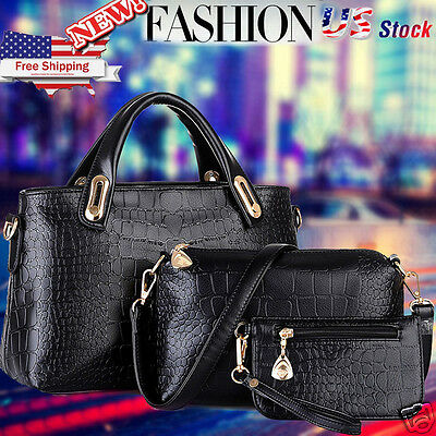 Women Leather Handbag Shoulder Bag Messenger Hobo Satchel Tote Crossbody Bag Y