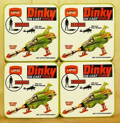 Drink Coaster Set Of 4 - Dinky Ufo Shado Interceptor