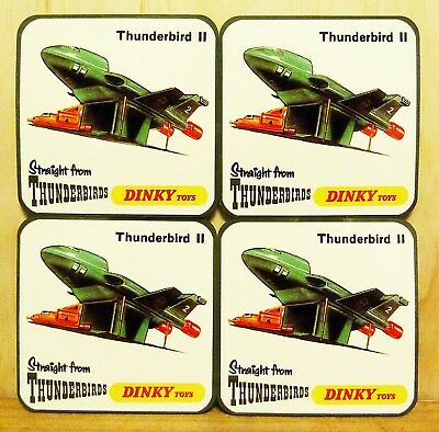 Drink Coaster Set Of 4 - Dinky Toys Thunderbird 2