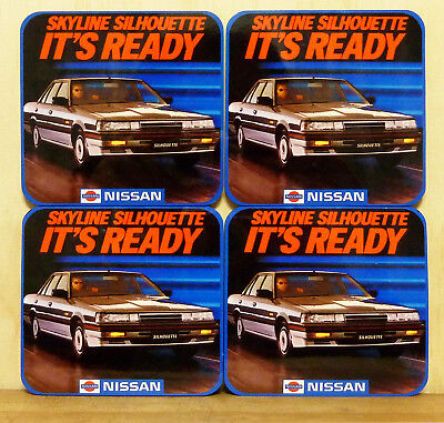 Drink Coaster Set Of 4 - Nissan Skyline Silhouette