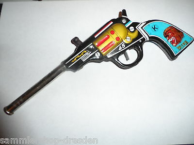 24318 Spielzeug Pistole Blech Made in Japan tin gun western oxydat King Sixties