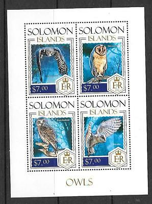 Solomon Islands 2013 Owls (3) Mnh