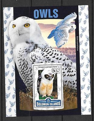 Solomon Islands 2016 Owls  (2) Mnh