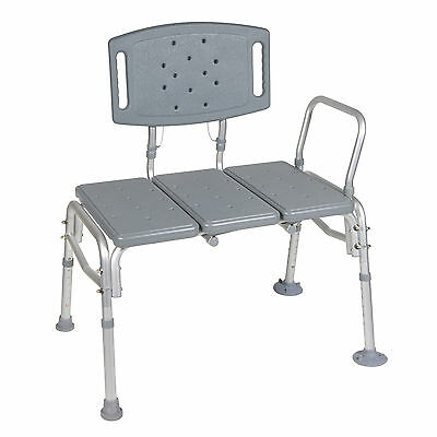 Drive Medical Heavy Duty Bariatric Plastic Seat Transfer Bench (12025Kd-1)