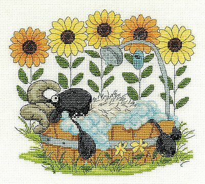 Time To Relax Cross Stitch Kit DMC BK1569 14 Count Whimsical Sheep