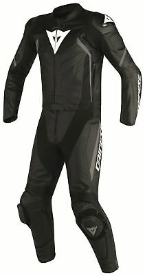 Dainese Avro D2 Div 2PC Two Piece Leather Race Suit Black Black Anthracite NEW!