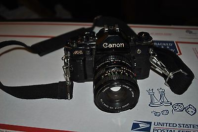 Canon A-1 35 Mm Slr Camera With Canon Fd 50 Mm 1:1.8